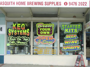 Asquith Home Brewing shopfront